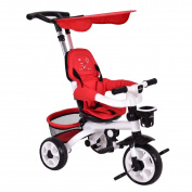 Costzon 4-In-1 Baby Tricycle Steer Stroller Detachable Learning Bike w/ Canopy Basket