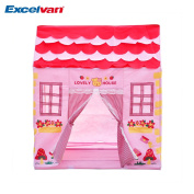 Excelvan Kids Toddlers Play Tent Pink Princess House Children Secret Garden Foldable Pop-up Playhouse