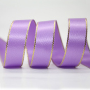 "3/8"" 9MM Polyester Satin Ribbon with Gold Edges 20 Yards"