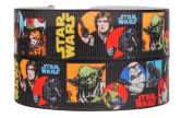 Star Wars 2.5cm Wide Repeat Ribbon Sold in Yard Lots