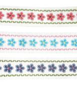 "0.5m"" Grosgrain Ribbon Fabric Fashion Sunflower Ribbon Set 6 Yards"