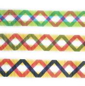 """0.5m"""" Grosgrain Ribbon-Fabric Fashion Zig Zag Ribbon Set 6 Yards"""