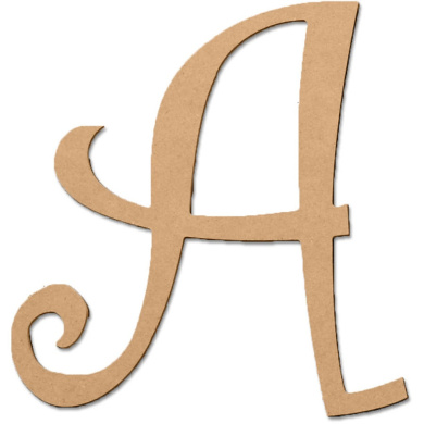 A 13cm Curly Letter
