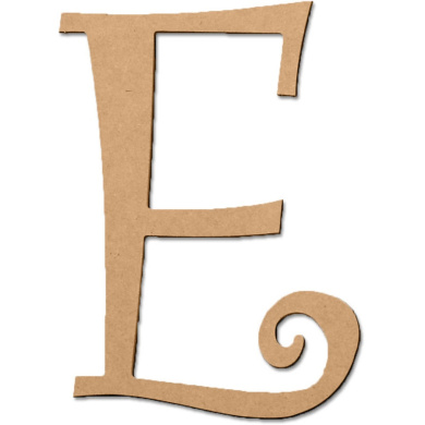E 13cm Curly Letter