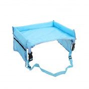 Childrens Travel Tray Kids Snack and Play Tray Travel Strong Buckles, Mesh Pockets, Waterproof Snack, Play & Learn Tray