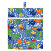 green sprouts by i play. Waterproof Travel Wet Bag, Periwinkle Undersea, One Size