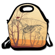 Ro Ro Ro Dinosaur Skeletons Food Container Cool Lunch Box Tote Bag Lunch Holder For Men Women Boys Girls Work Office School