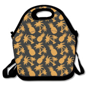 Ro Ro Ro Simple Pineapple Coconut Pattern Food Container Stylish Lunch Box Tote Bag Lunch Holder For Men Women Boys Girls Work Office School