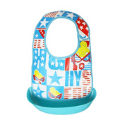 Creazy Baby Toddler Kids Boys Girls Waterproof Feeding Apron Saliva Towel Bib Smock