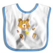 Unisex Baby The Cute Bathing Bear With Duck Toy Soft And Comfortable Cute Bibs