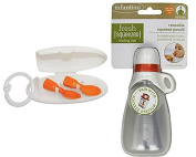 Infantino Bundle of Squeeze Pouch Keeper and couple a Spoon Set