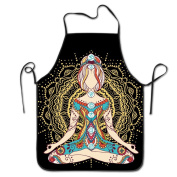 Yoga Vector Adjustable Apron For Kitchen Garden Cooking Grilling Chef Waitress Great Gift For Wife Ladies Men Boyfriend
