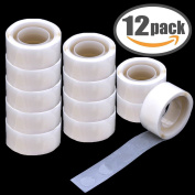 Balloon Glue 1200 PCS (12 Rolls) Double Sided Dots of Glue Craft Adhesive Point Tape Non-liquid Glue