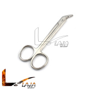 LAJA IMPORTS WIRE CUTTING SCISSORS 12cm ANGLED, SERRATED