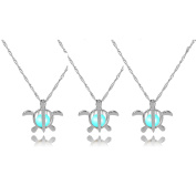 Jiayiqi Womens Glow in the Dark Necklace Charm Alloy Pendant Necklace 2-3PCS