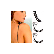 stunningboutique black crystal double rows diamonte bra straps. comes in pairs* High Quality*