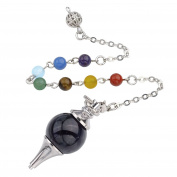 JSDDE 7 Chakra Reiki Healing Crystal Dowsing Divination Metaphysical Spiritual Chakra Balancing Pendulum