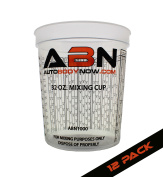 SHOPIFY ONLY -- ABN Clear Plastic Paint Mixing Cup 32oz Ounce / 946mL Millilitre