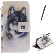 SONY Xperia XZ Flip Magnetic Leather Case + [Free 2 in 1 Black Stylus Pen] KaseHom Cute Wild Animals Painted Pattern Design Wallet Case Build in [Kickstand] [Credit Card Holder] [Detachable Hand Strap] Scratch Resistant Skin Slim Silicone Gel Bumper Fu ..