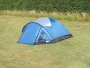 Kampa Brighton 4 Berth Camping Tent Ideal For Weekends Or Festivals Lagoon Blue