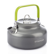 Overmont Aluminium 0.8l Outdoor Camping Hiking Kettle Coffee Pot Portable Teapot