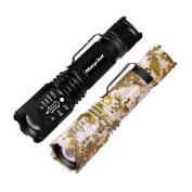 Morpilot 2Pcs Tactical Handheld Flashlight LED Torch 500 Lumens Ultra Bright Modes Strobe Tac Light for Camping Hunting Hiking,Cycling