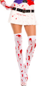 Music Legs Bloody Thigh Highs White/Red One Size Fits Most
