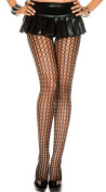 Music Legs Spandex Crochet Pantyhose Black One Size Fits Most