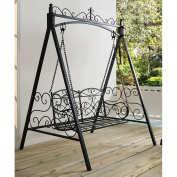 Coral Coast Ridgecrest 1.2m Metal Outdoor Porch Swing and Stand