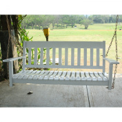 Cambridge Casual 130cm . All-Weather Wood Porch Swing - White