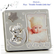 Baby Star Musical Silver Plated Picture Photo Frame ~ Plays Twinkle Twinkle Little Star ~ for Boys or Girls