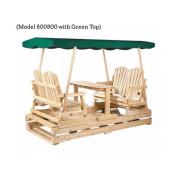 Rustic Natural Cedar Furniture 0800805 Dlx. Garden Glider, Jacquard Top