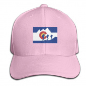 Colorado State Flag Hiking Adjustable Baseball Caps Unstructured Dad Hat 100% Cotton Black