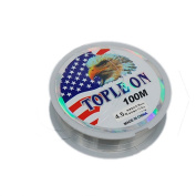 bargain house Monofilament Fishing Line,Superior Mono Nylon Fish Line Great Substitute for Fluorocarbon Fishs Line, 100 Metres Abrasion Resistant Fly Fishing Line