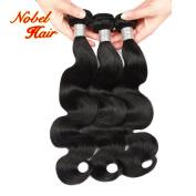 Nobel Hair Brazilian Virgin Hair Body Wave Human Hair 3Bundles Weaves 100% Unprocessed Hair Extensions Natural Colour
