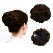 Beauty Angelbella Synthetic Natural Curly Chignon Updo Clip in/on Plastic Comb Elastic Bride Bun Donut Hairpieces For Women