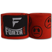 Forza MMA 460cm Mexican Style Boxing Handwraps - Smileys Red