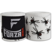 Forza MMA 460cm Mexican Style Boxing Handwraps - Spider White
