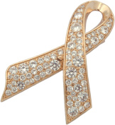 Brooch, Rose Gold Plated Rhinestone Awareness Pin + FREE GIFT BAG
