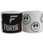 Forza MMA 460cm Mexican Style Boxing Handwraps - Smileys White