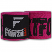 Forza MMA 460cm Mexican Style Boxing Handwraps - KTFO Hot Pink