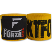 Forza MMA 460cm Mexican Style Boxing Handwraps - KTFO Yellow