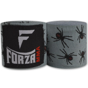 Forza MMA 460cm Mexican Style Boxing Handwraps - Spider Grey