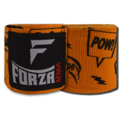 Forza MMA 460cm Mexican Style Boxing Handwraps - Comic Book Orange