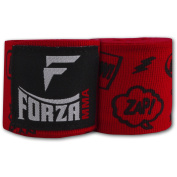 Forza MMA 460cm Mexican Style Boxing Handwraps - Comic Book Red