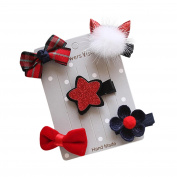 PPBUY 5Pcs Infant Hairpin Bow Flower Barrettes Hair Clip Set