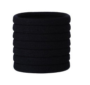 50PCS Black Elastic Nylon Towel Hair Ring Tie Line Rubber Band Rope Ponytail Holders Headband Hairband Hair Accessories Tool For Girls Children Women