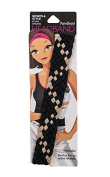 Pomchies Multi Colour Pom Headband, Black/Vegas Gold