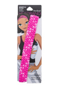 Pomchies Multi Colour Pom Braid Headband, Pretty in Pink