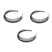 HUELE Black Plastic Teeth Comb Hairband Hair Hoop Headband